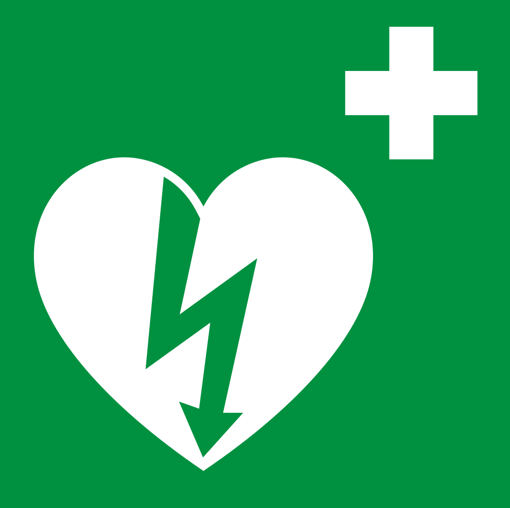 ILCOR AED sign svg